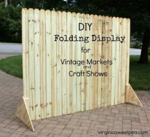 DIY Folding Display for Markets and Craft Shows