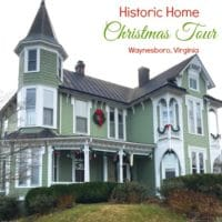 Christmas Home Tour on the Tree Streets in Wayneboro, Virginia