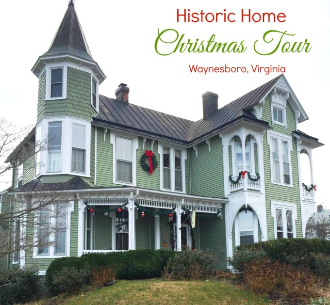 Historic Christmas Home Tour in Waynesboro, VA - Tour five homes decorated for the holidays.  virginiasweetpea.com