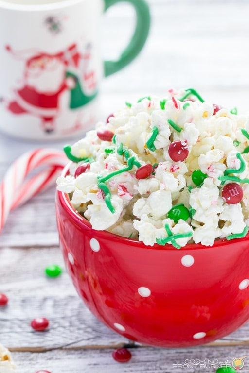 Holiday Chocolate Peppermint M M Popcorn Snack