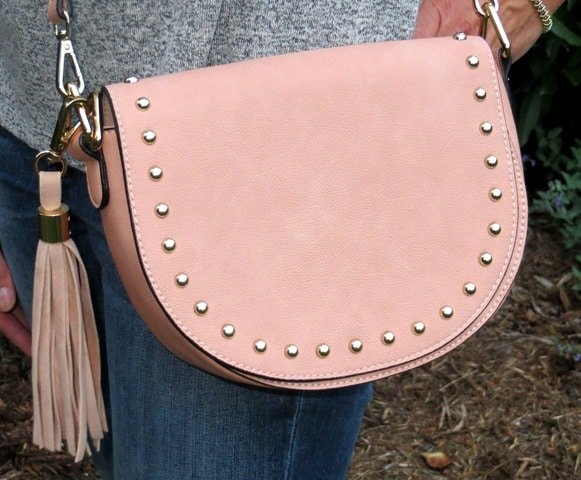 Stitch Fix Review - October 2016 - Glamorous Reese Studded Saddle Bag