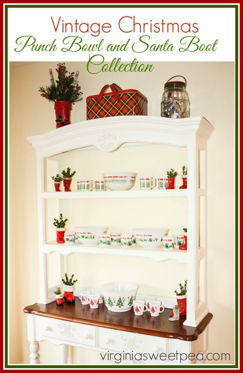 Vintage Christmas - Punch Bowl and Santa Boot Collection by virginiasweetpea.com