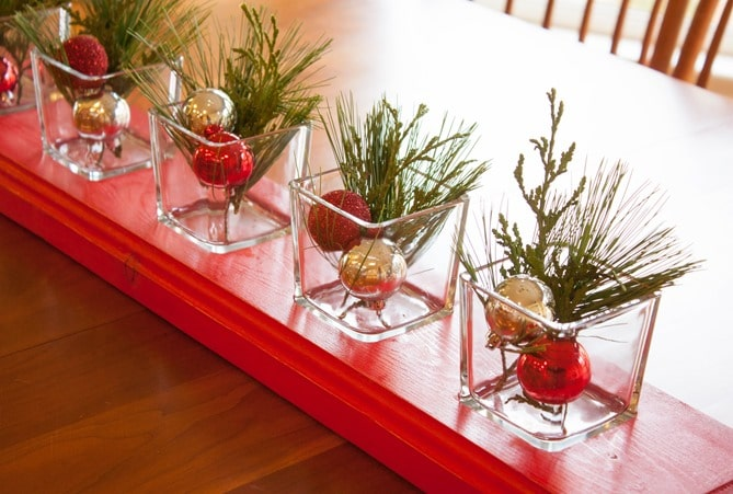DIY Recessed Glass Centerpiece