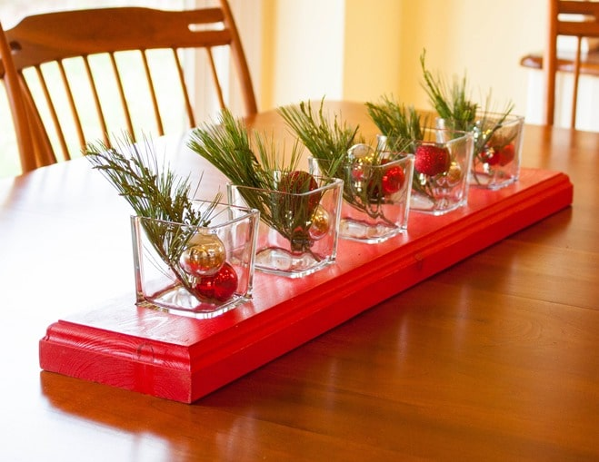 DIY Recessed Glass Centerpieces