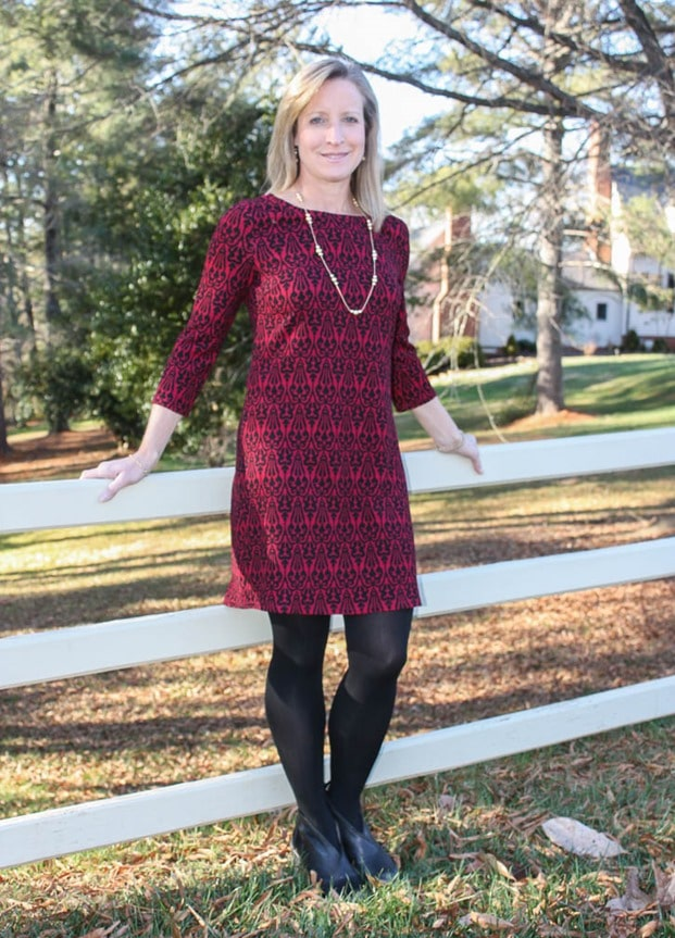 Stitch Fix Review January 2017 | Skies are Blue Gisela Textured Knit Dress | virginiasweetpea.com