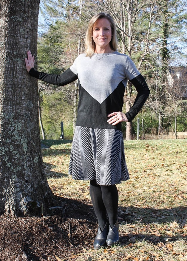 Stitch Fix Review January 2017 | Gilli Patricia Sweater Knit Swing Skirt | virginiasweetpea.com