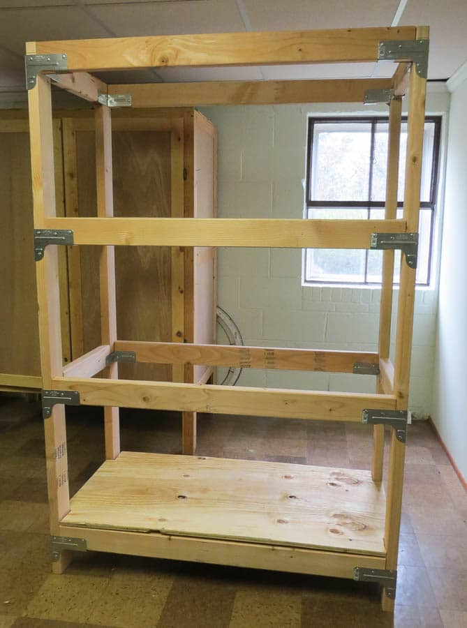 DIY 2x4 Shelving Unit - Sweet Pea