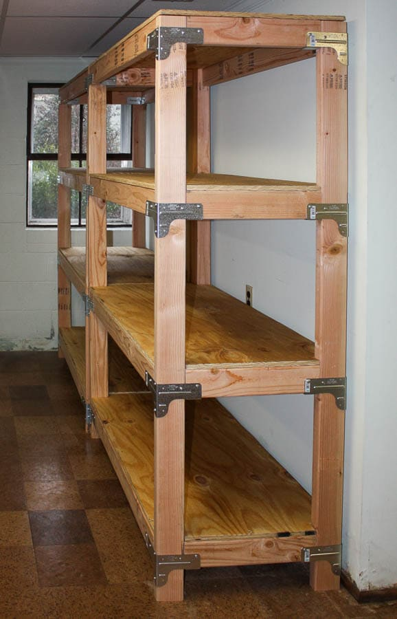 diy 2x4 shelving unit sweet pea