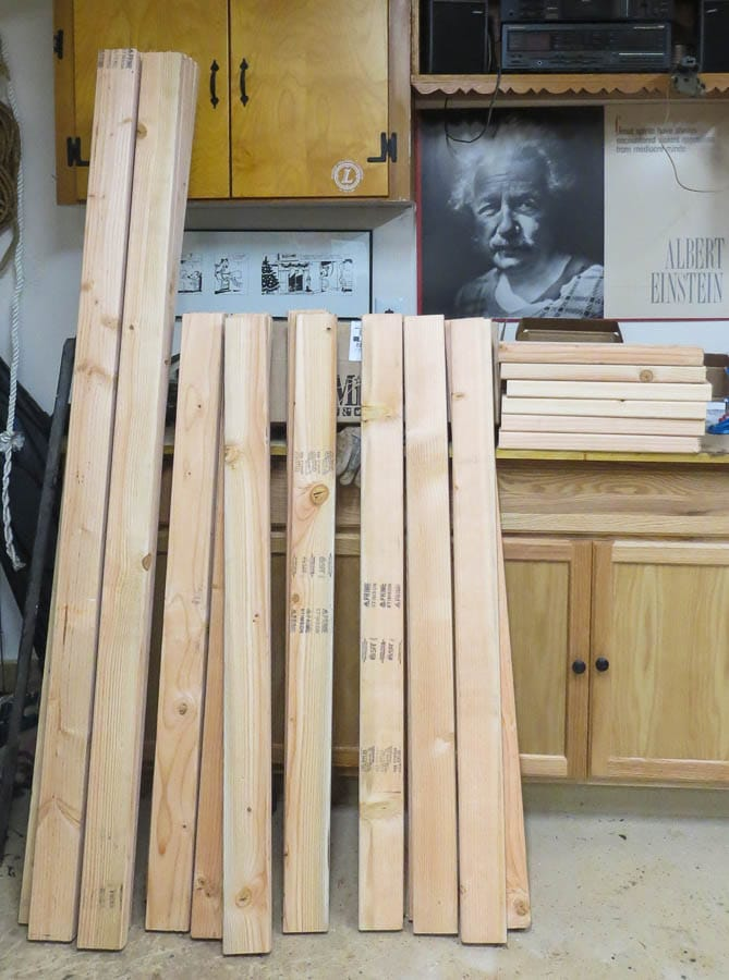 Supplies Needed to Make a DIY 2x4 Shelving Unit