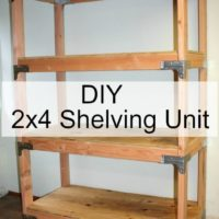 DIY 2x4 Shelving Unit - This is a very easy project! virginiasweetpea.com