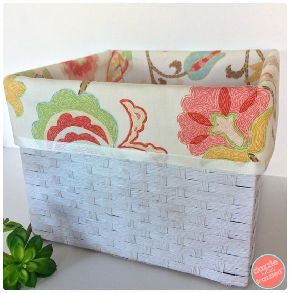 DIY No Sew Basket Liners