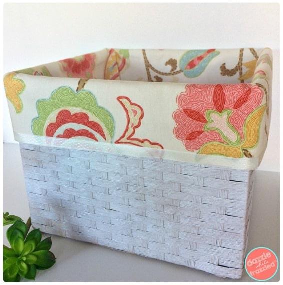 DIY No Sew Basket Liners