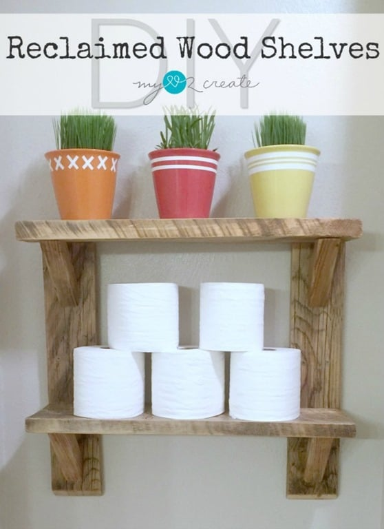 DIY Reclaimed Wood Shelves