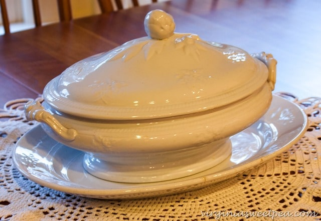 Ironstone Covered Dish and Platter