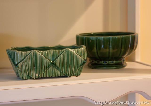 Vintage Green Pottery