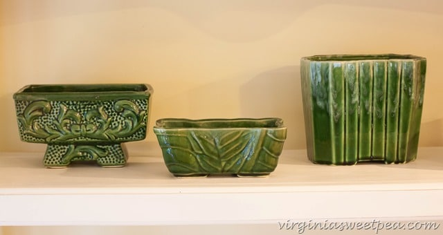 Vintage Green Pottery