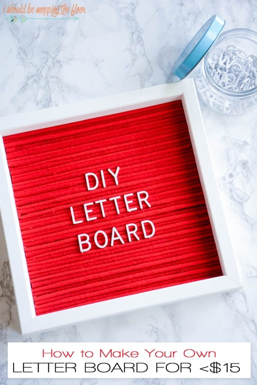 how to make a letter board