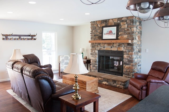 Smith Mountain Lake House Update - January 2017 - Homestetch Sofa and Recliner - virginiasweetpea.com