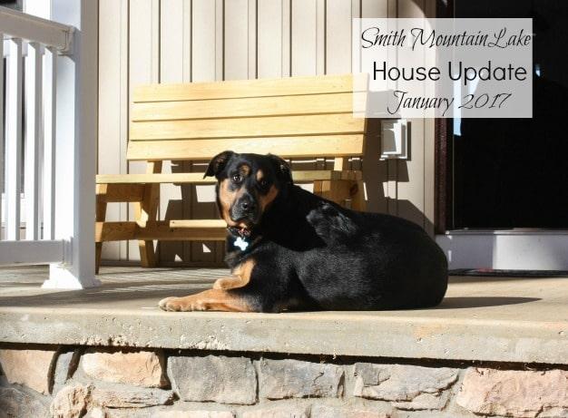 Smith Mountain Lake House Update - January 2016 - virginiasweetpea.com