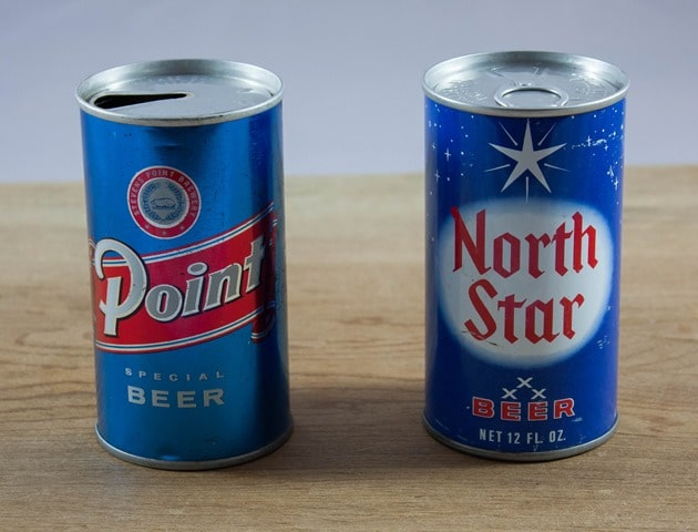 Vintage Beer Cans: Point Special Beer and North Star Beer