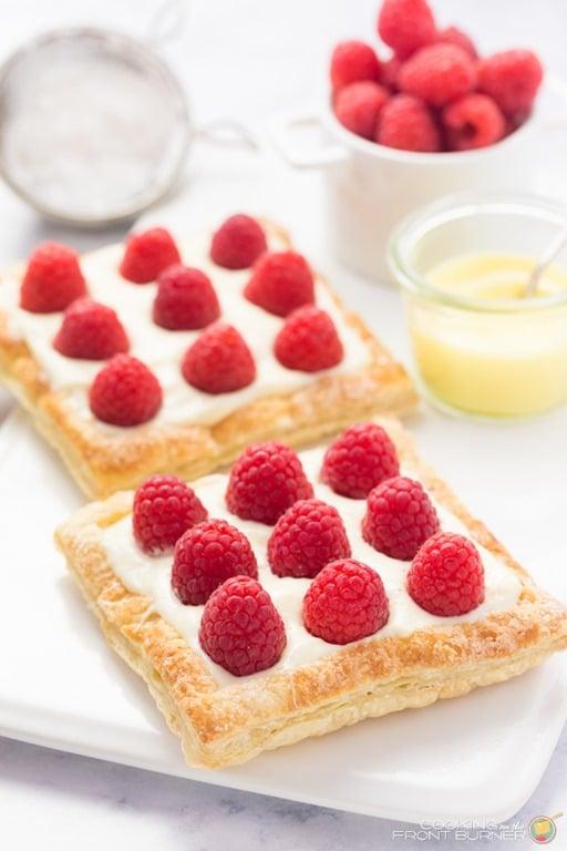 Mini Lemon Raspberry Tarts