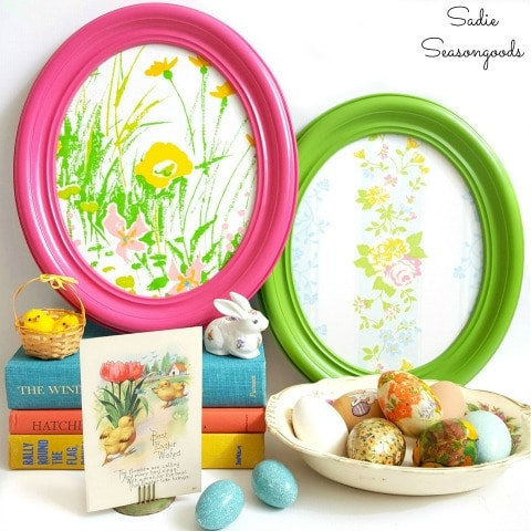 Oval Frames Upcycled into DIY Easter Eggs