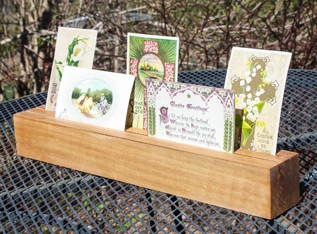 DIY Wood Card Display and Holder - Learn how to make your own! virginiasweetpea.com