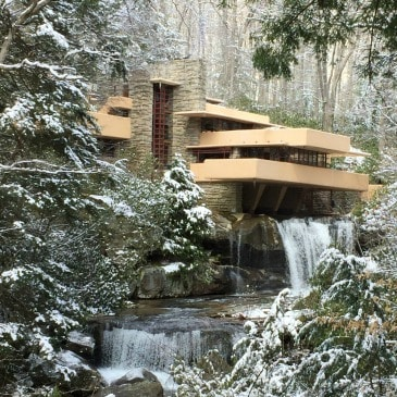Visit Fallingwater, a Frank Lloyd Wright designed home in Pennsylvania.