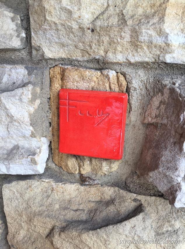Frank Lloyd Wright Signature-Plaque at Kentuck Knob