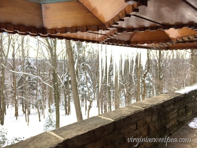 Kentuck Knob Woodwork - A Frank Lloyd Wright designed home in PA