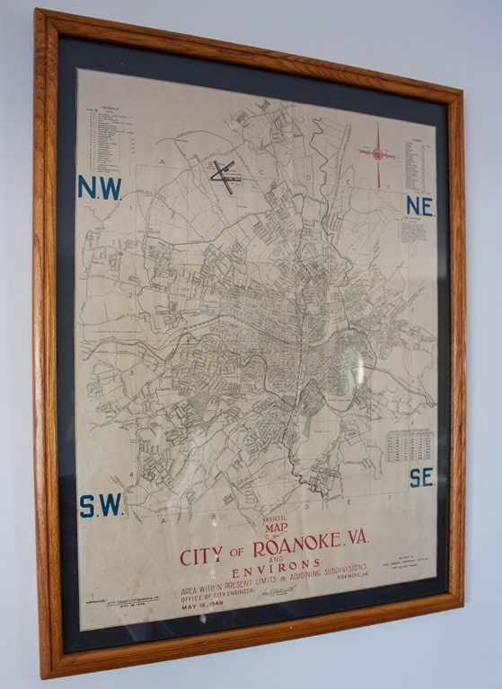 1949 City of Roanoke, VA Map