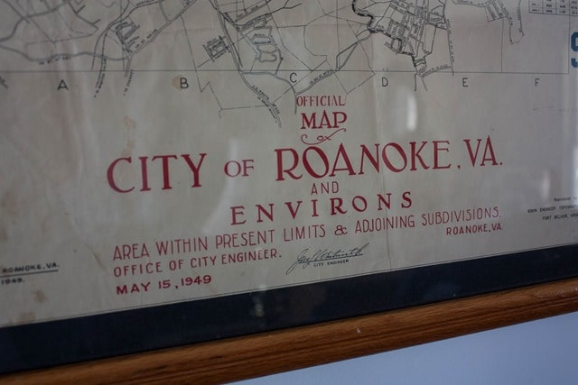 1949 city of Roanoke Map