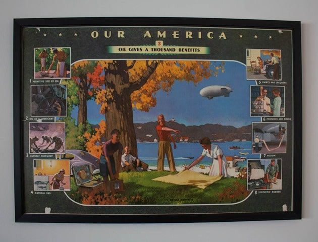 Our America Oil Gives a Thousand Benefits 1943 Coca Cola Poster