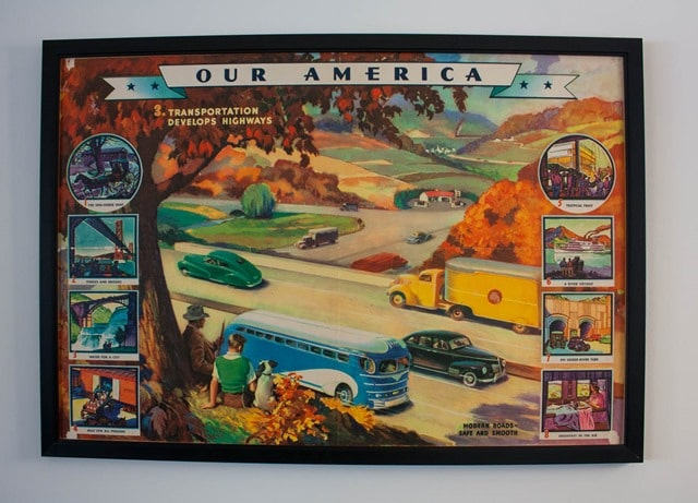 Our American Transortation Develops Highways 1943 Coca Cola Poster
