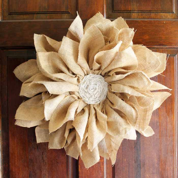 How to Make a Burlap Flower Wreath