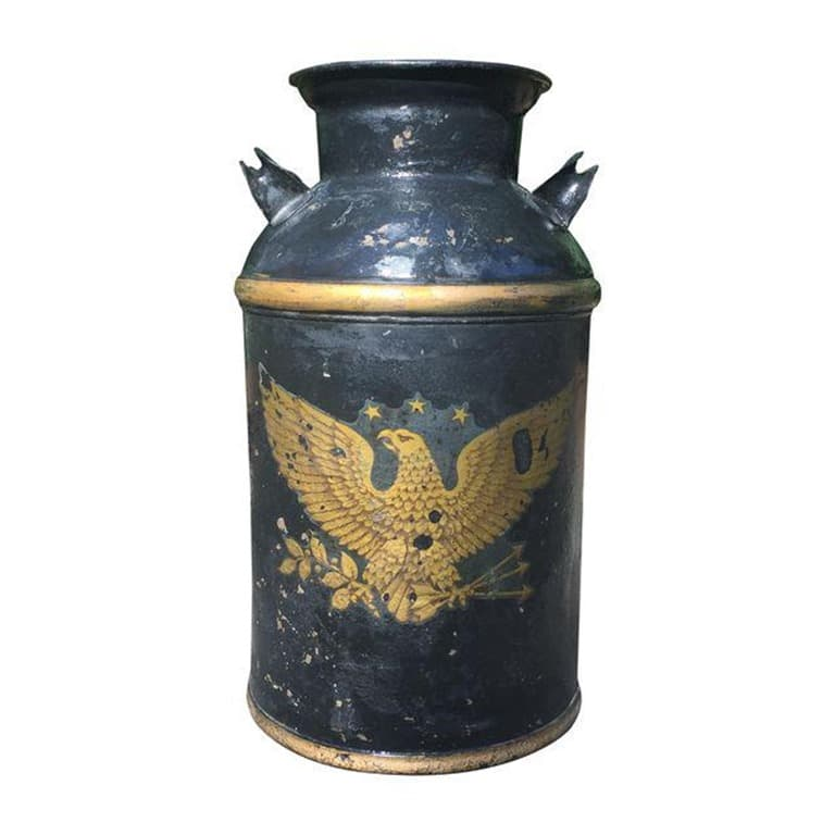 vintage eagle black milk can