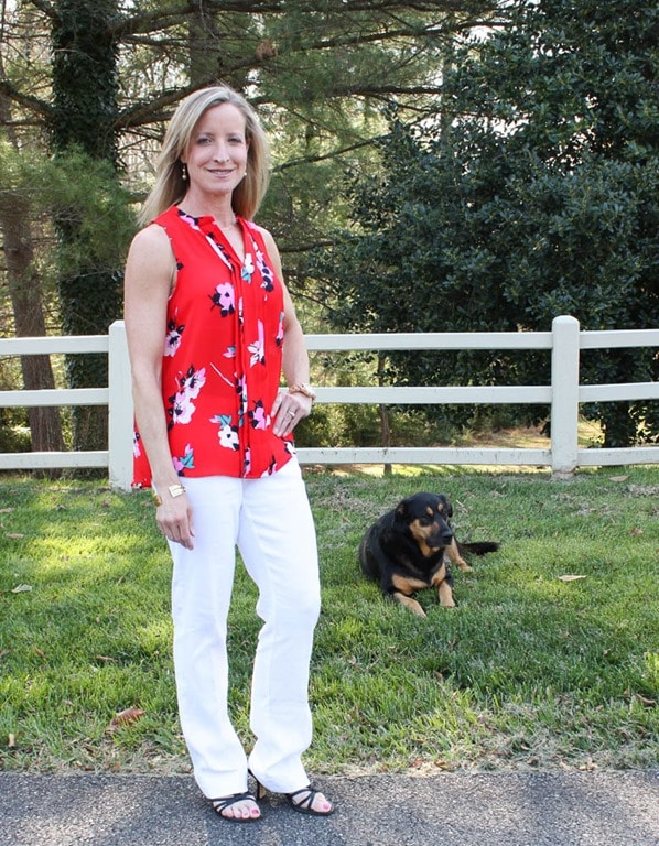 Stitch Fix Review for April 2017 - 41Hawthorn Breyson Pleated Detail Blouse with Lila Ryan Mia Wide Leg Linen Pant - virginiasweetpea.com