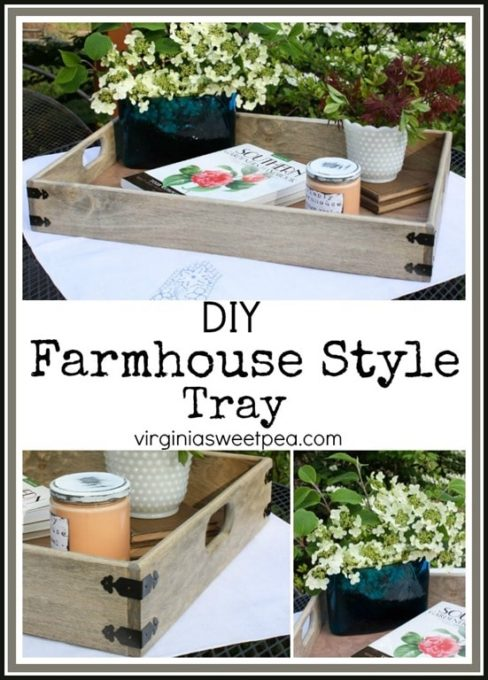 DIY Farmhouse Style Tray - Learn how to make a tray like this one for your home. virginiasweetpea.com