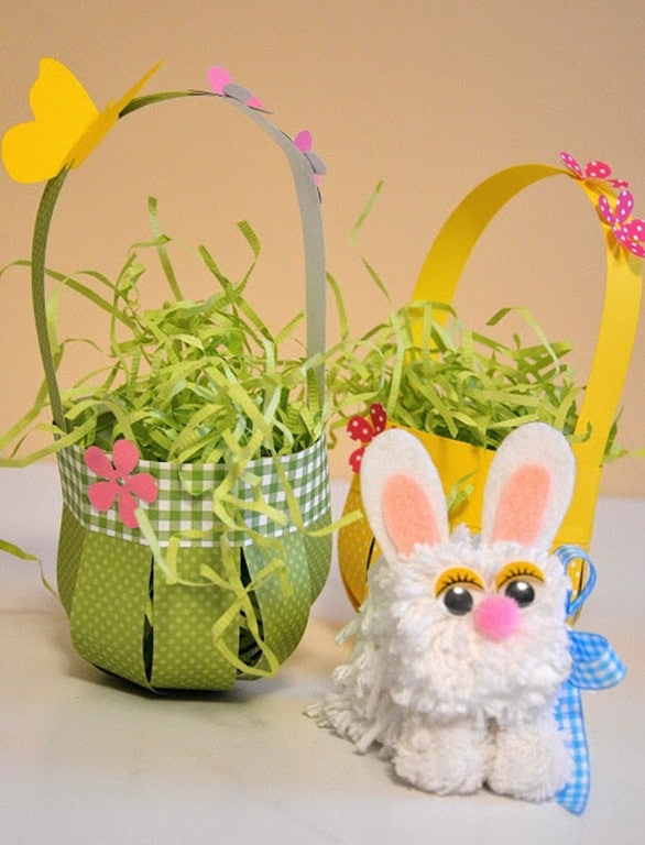 DIY Woven Paper Easter Treat Baskets