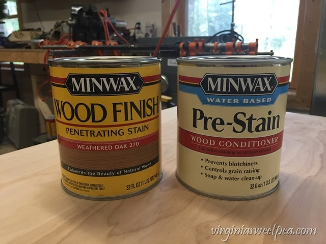 Minwax Wood Finish Penetrating Stain in Weathered Oak and Minwax Pre-Stain Wood Conditioner