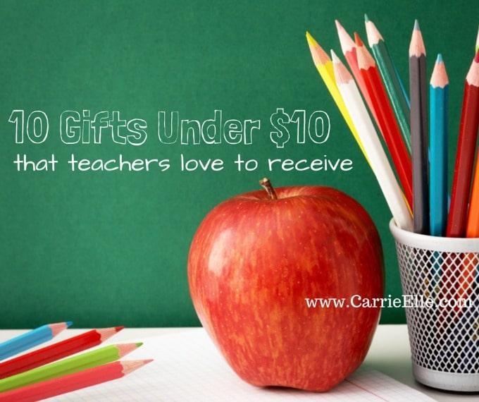 10 Gift Ideas for Teacher Appreciation Week