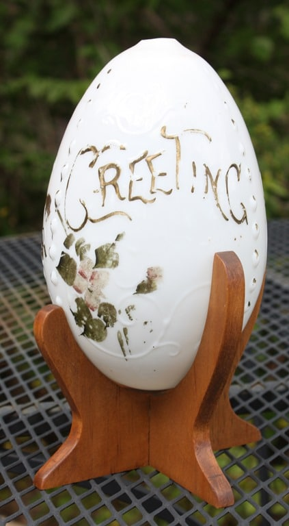 """Easter Greetings"" Vintage China Egg - virginiasweetpea.com"