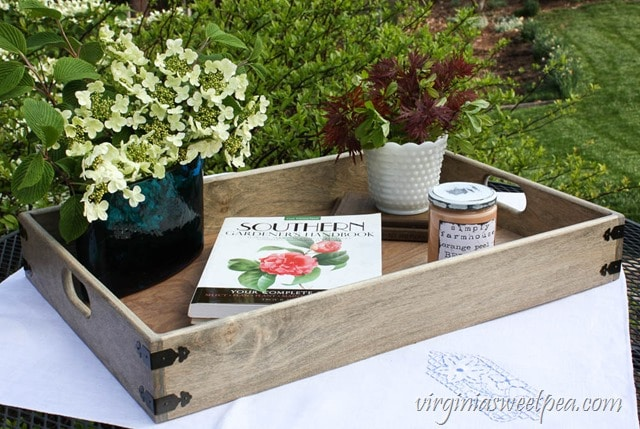 DIY Farmhouse Style Tray - Learn how to make your own with a step-by-step tutorial. virginiasweetpea.com