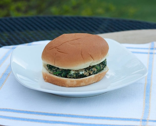 Spinach Burgers with Blue Cheese