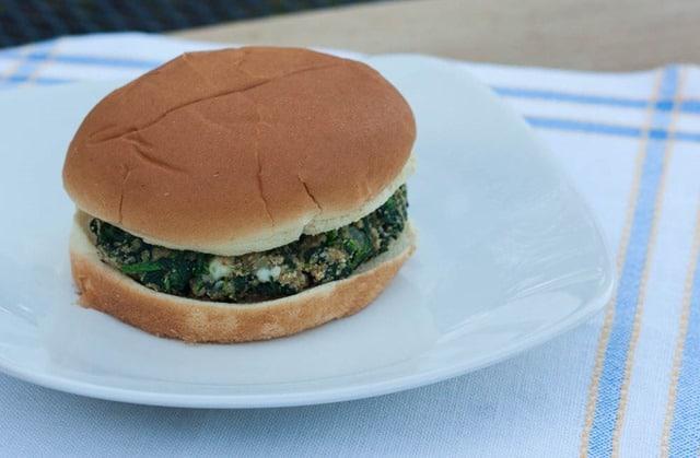 Blue Cheese Spinach Burgers