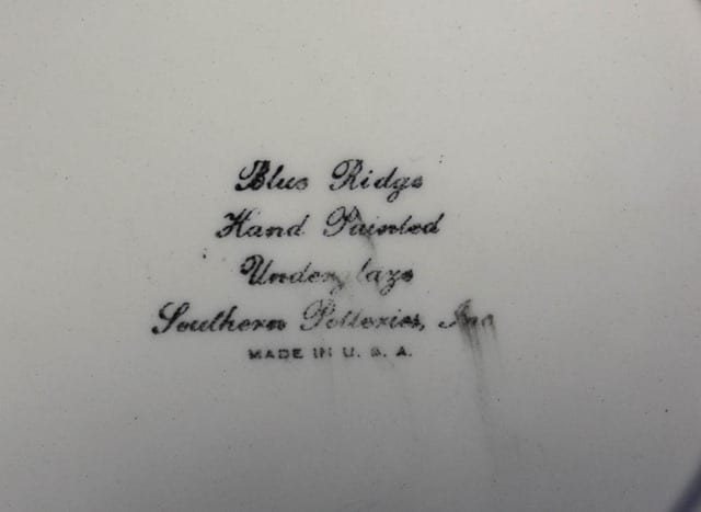 Blue Ridge Pottery Lamb Child's Plate - virginiasweetpea.com