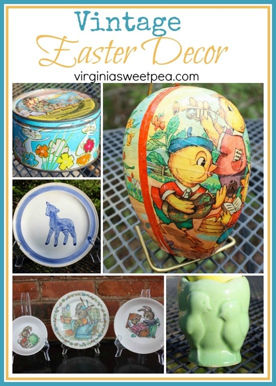 Vintage Easter Decor - See a collection of vintage Easter decor. - virginiasweetpea.com
