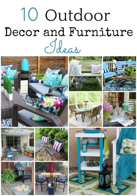 10 Outdoor and Decor Furniture Ideas - These projects will give you great ideas for your own outdoor space. virginiasweetpea.com