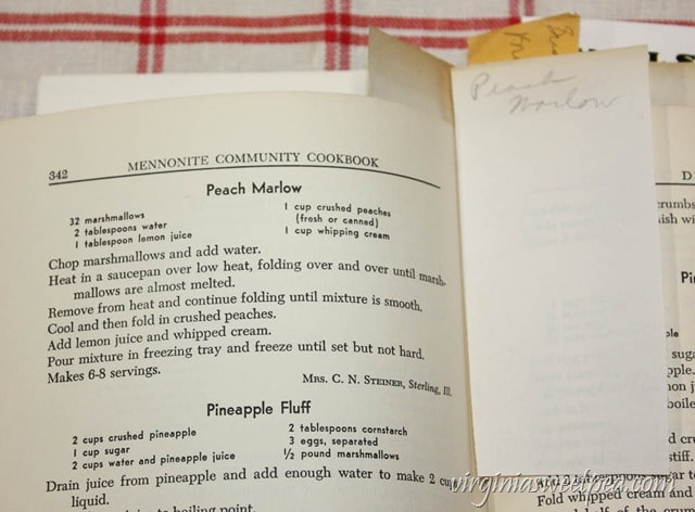 Peach Marlow from the Mennonite Community Cookbook