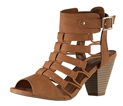 City Classified Awesome Gladiator Strappy Chunky Block Heal